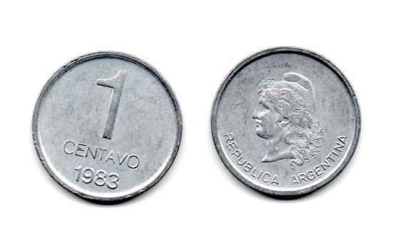 Argentina Moneda 1 Centavo Año 1983 Peso Argentino Escasa