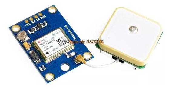 Módulo Gps Rs232 Blox Neo 6m C/ Antena, Nmea Arduino Pic Avr