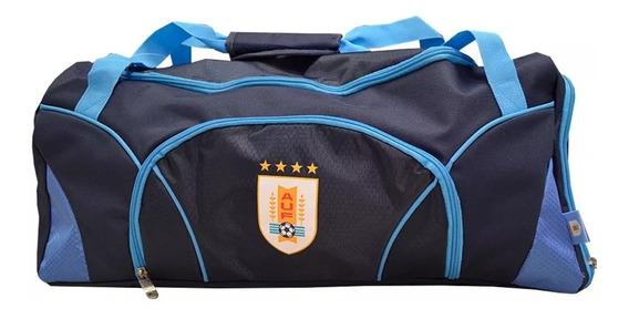 Bolso Selección Uruguaya Celeste Deportiva Fútbol Viaje