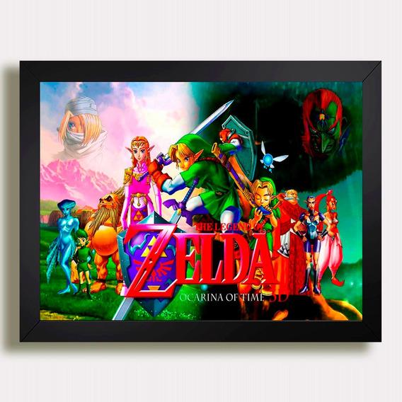 Quadro Zelda Game Rpg Nintendo Filme Serie Tv Pfe Moderno