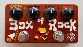 Zvex Box Of Rock Hand Painted - Pedal De Overdrive E Boost