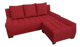 Sillon Sofa Esquinero Con Costuras Esteticas Telas A Elegir