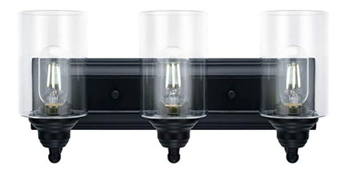 Lámpara De Techo De 3 Luces,de Cristal Transparente