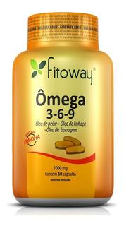 Omega 3-6-9 1.000mg - Bem-estar - 60 Caps - Fitoway®