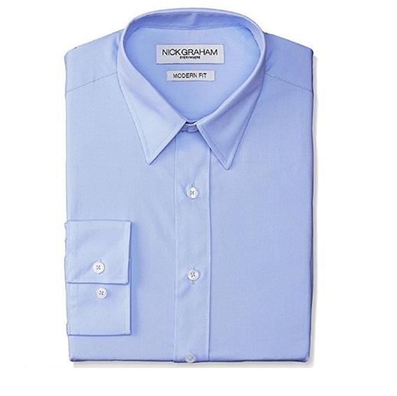 Nick Graham - Camisa De Vestir Hombre - 55% Algodón
