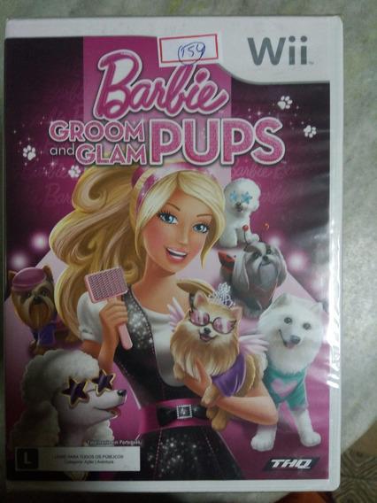 Nintendo Wii Barbie Groom And Glam Pups Original Americano