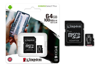 Micro Sd Kingston Cs2 ( 64gb 100mb/s Clase 10 ) Sdhc Hx