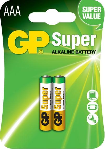 04 Pilhas Aaa 3a Palito C/2 Alcalina Gp Super - 2 Cartelas