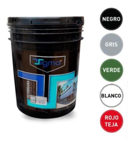 Membrana Cubre Techo Aislante 20 Kg Transitable Colores Rojo Verde Blanco Liquida Antihongos Secado Rapido Premium