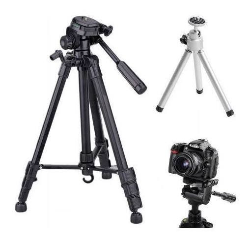 Tripé Universal Fotográfico Canon Nikon 1,80 Mt + Mini Tri