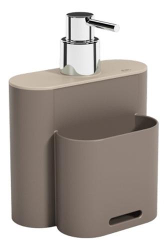 Imagem 1 de 3 de Dispenser Flat Para Detergente E Esponja Pia Cozinha 500ml