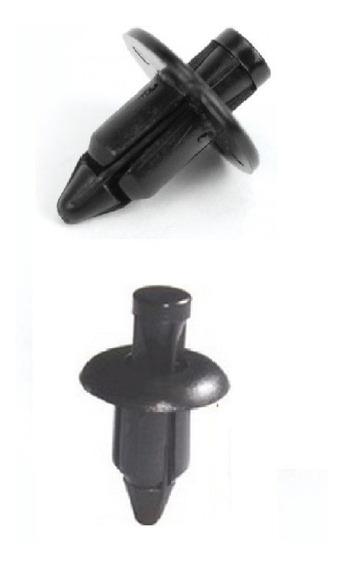 Kit 24 Presilhas Carenagem De Moto 12 De 7mm Mais 12 De 6mm