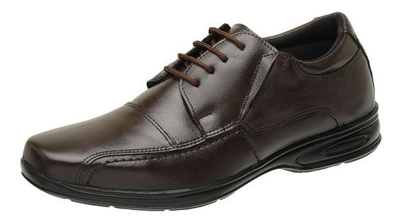 Sapato Social Couro Legítimo Anti Stress Conforto Ortopédico