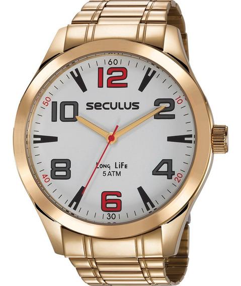 Relógio Seculus Masculino Long Life 23654gpsvda2