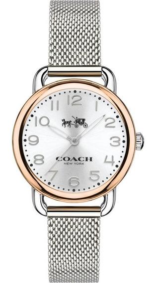 Reloj Coach Delancey Watch Quartz Silver Mineral Crystal 28m