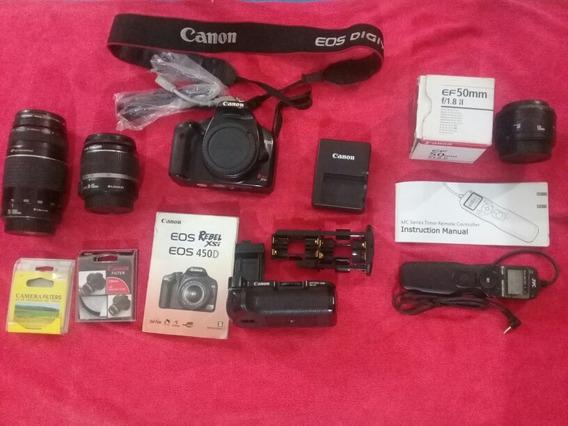 Canon Eos Rebel Xsi 450d - Cámaras Digitales en Mercado