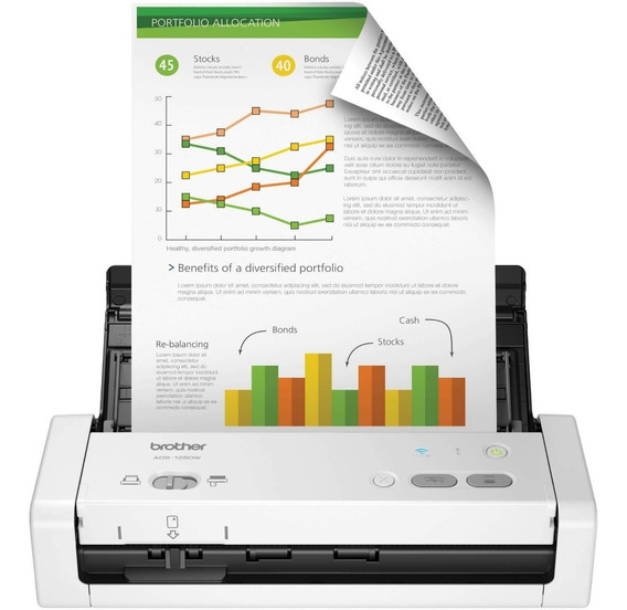 Scanner Brother Ads-1250w Portátil Wifi Lançamento 12x