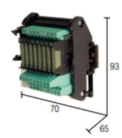 Módulo Interface Relé 8 Canais 6a 24vdc - Xcrn08
