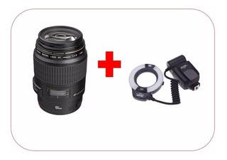Lente Canon Macro Ef 100mm F/2.8 + Ring Flash Viltrox Ttl