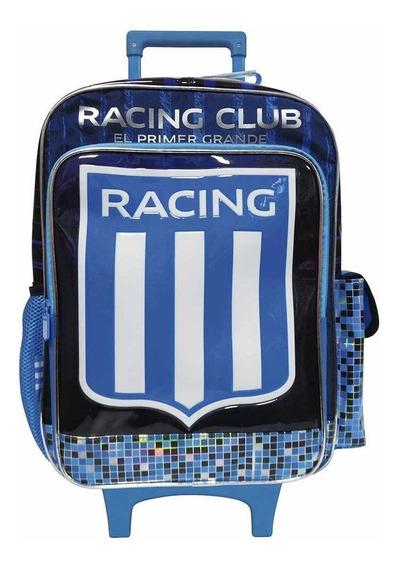Racing Mochila Con Carro 18 Pulgadas Ruedas Rueditas Escolar