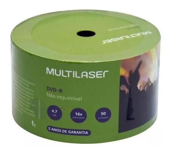 Dvd-r Multilaser 4.7gb 120min 16x ( 50 Unidades )