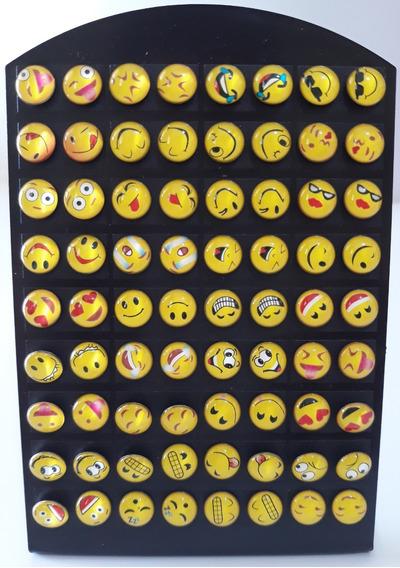Novo! Kit Revenda 36 Brincos Emoji Carinha Whatsapp Sucesso