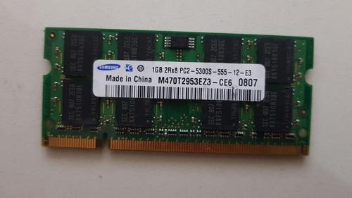 Memoria De Note 1gb Pc2-5300s 2rx8 Ref: 0472 Usada