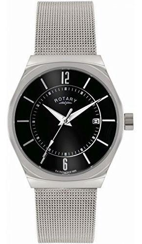 Relojes De Pulserareloj Rotary-gb00033-19 Plateado- ..