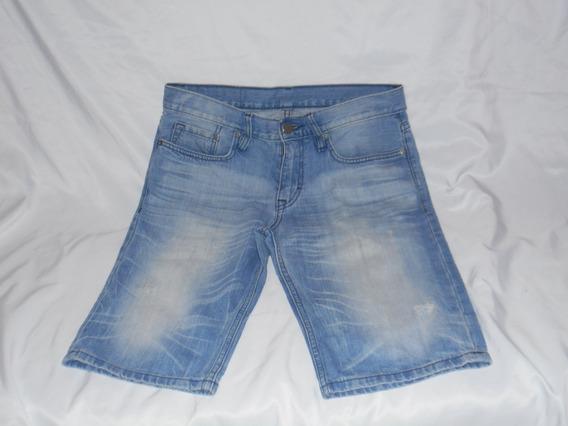 Bermuda Calvin Klein Jean Gastado Unisex Talle 30 W