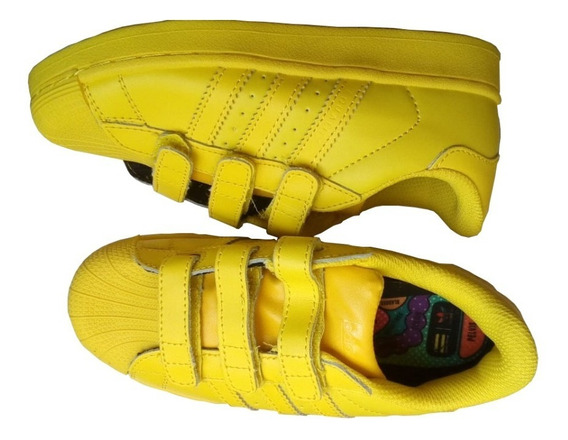 Tenis Zapatillas Superstar 80s Pharrell Supercolor. T32 Niño