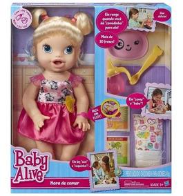 Boneca Baby Alive Hora De Comer Loira Hasbro Original