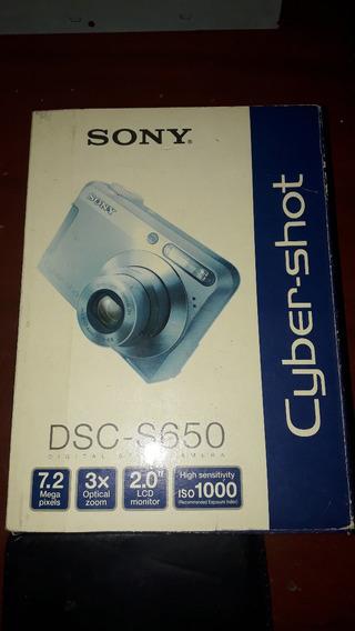 Camara Digitalsony Dsc-650 7mp, Con Acc.y Produo (48vs)