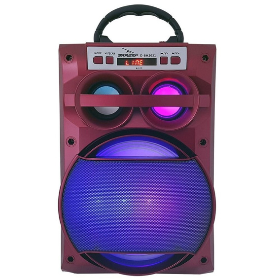 Caixa De Som Grasep D-bh2031 Amplificada Bluetooth Usb P2
