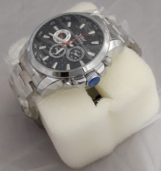 Relógio Epozz Novo Na Caixa M30 Cromado
