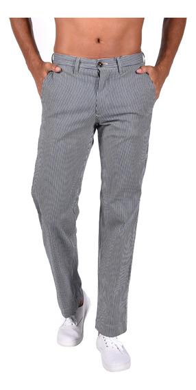 Pantalón Wide Fit Tommy Azul Mw0mw06101-416 Hombre