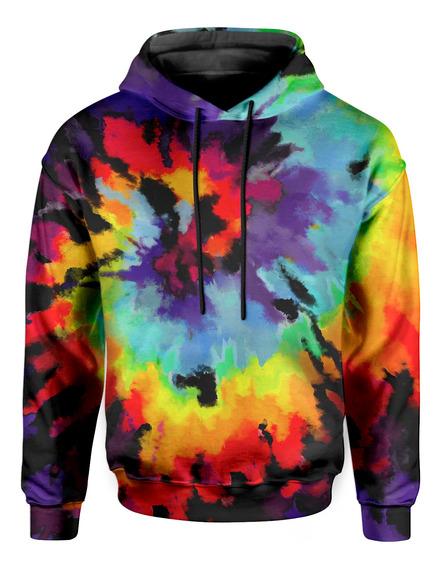 Moletom Com Capuz Unissex Espiral Color Tie Dye Md26