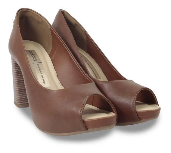 Sapato Feminino Scarpin Peep Toe Dakota Salto Alto Original