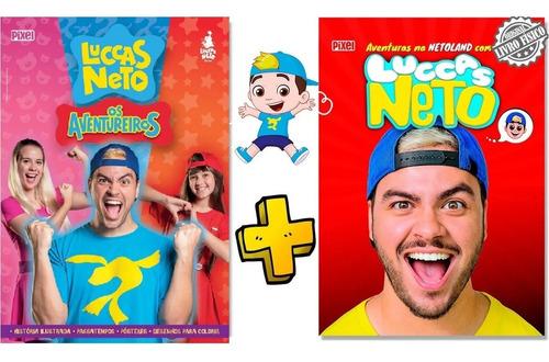 Kit 2 Livros Luccas Neto Os Aventureiros E Netoland Aprender