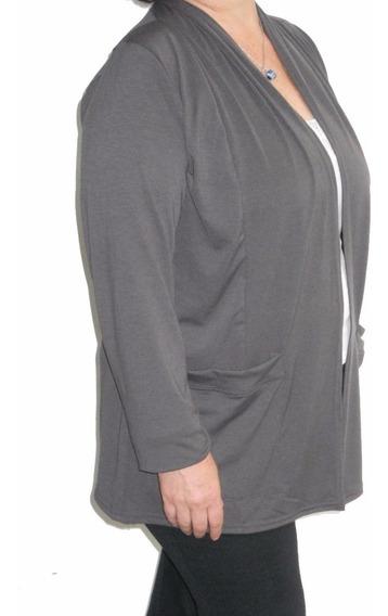 Saco Mujer Modal Con Bolsillos L Xl Xxl Xxxl 4xl Mythos