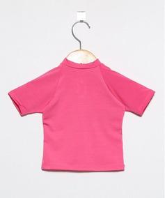 Camiseta Com Proteção Solar Manga Curta Ecotrends Pitaya
