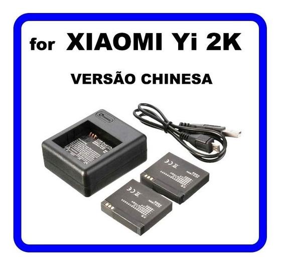 Baterias Az13-1+carreg Dupl P/ Xiaomi Yi 2k- Versão Chinesa