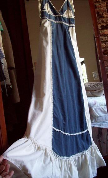 Solera Vestido Largo Combinado