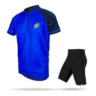 Conjunto Asw Bermuda E Camisa Lazer Azul 19