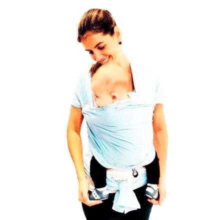 Carregador De Bebe Azul Ate 3 Meses De Idade Super Pratico