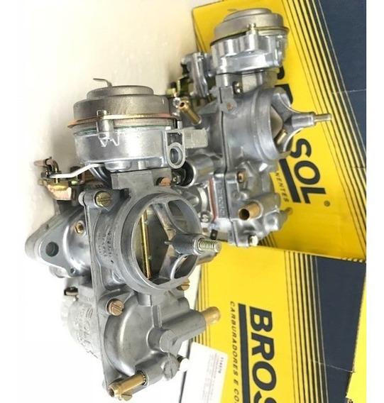 Carburador Brosol Fusca Itamar Solex H 32 Pdsi 2/3 Gas Novo