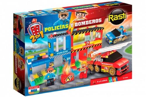 Bloques Rasti Policia Y Bomberos 01-1086 Original Edu Full