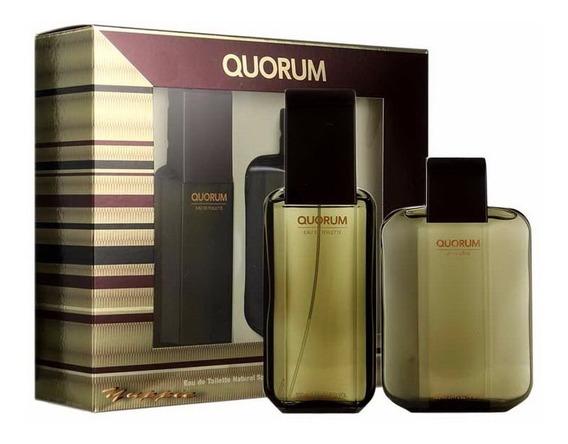 Estojo Importado Quorum Original Edt + Aftershave 100ml Cada