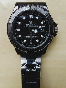 Relógio Rolex Aço Preto Oyster Perpetual Date 44mm