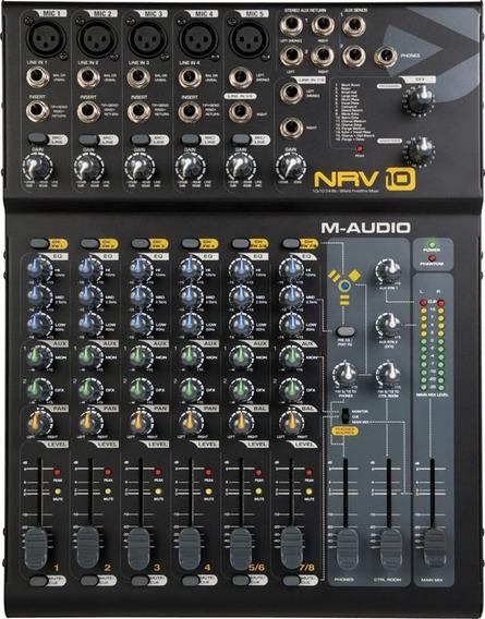 Mixer M Audio Nrv 10 Firewire 24bits/96khz Nrv10