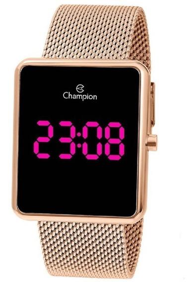 Relógio Champion Unissex Digital Led Lilas Ch40080h Rose